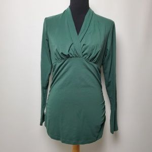 CAbi Green Flatter Me Top Style #133 Large